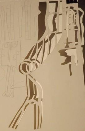 Chloe Campbell, Drawings and Stencil Cuts of Las Meninas, 2014, pencil, 29.7 x 42 cm.