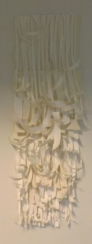 By-Product Sculpture, paper and pins. 50 x 1 metres. 20.01.15-23.01.15