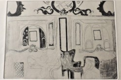 Etching of the inside of Wetherspoons by Liverpool Street Station, A4 6