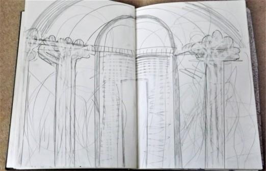 Louvre - Paris, pencil on paper, A3