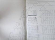 Centre Georges Pompidou, pen on paper, A3