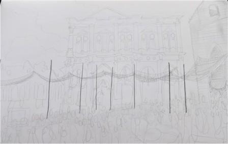 Venice, pencil on paper, A4