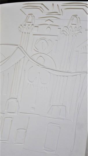 Venice, paper cut, A4