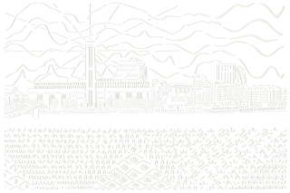 The View of the Thames from the North Side of Millenium Bridge, paper cut, A1